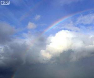 Puzzle de Arco iris entre nubes
