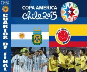 Puzzle de ARG - COL, Copa América 15