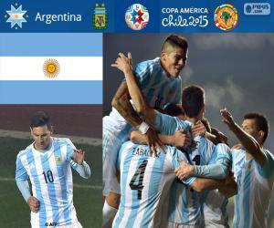 Puzzle de ARG finalista CopaAmérica15