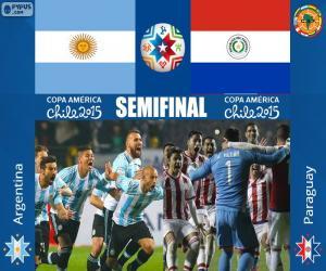 Puzzle de ARG - PAR, Copa América 15