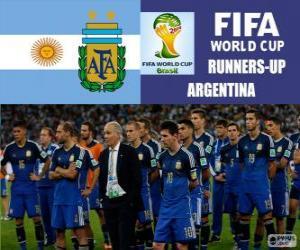 Puzzle de Argentina 2º clasificado del Mundial de Fútbol Brasil 2014