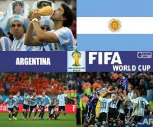 Puzzle de Argentina celebra su clasificación, Brasil 2014