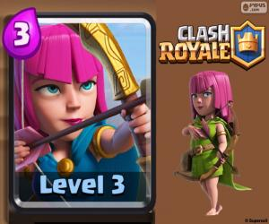 Puzzle de Arqueras de Clash Royale