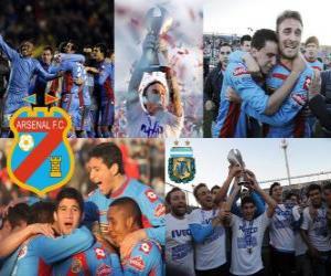 Puzzle de Arsenal Fútbol Club, Campeón Clausura 2012, Argentina