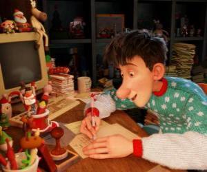 Puzzle de Arthur Christmas, responsable de responder las cartas de todos los niños del mundo