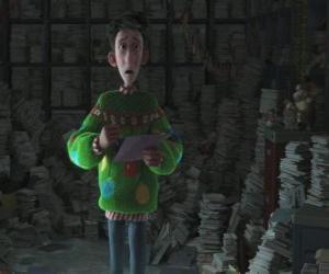Puzzle de Arthur Christmas rodeado de miles de cartas