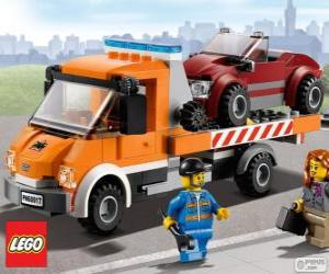 Puzzle de Asistencia mecánica de Lego City