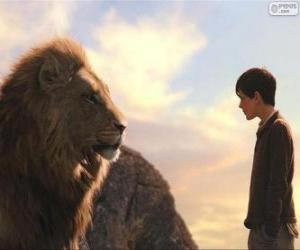 Puzzle de Aslan hablando con Edmund