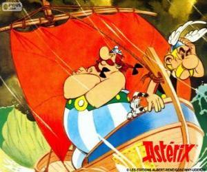 Puzzle de Astérix y Obélix, dos amigos son los protagonistas de las aventuras de Astérix el Galo