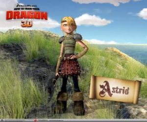 Puzzle de Astrid Hofferson, una joven vikinga sorprendente, enérgica y competitiva