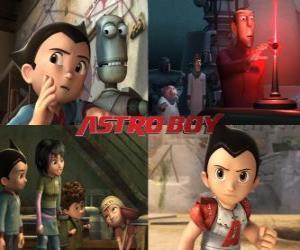 Puzzle de AstroBoy o Astro Boy, junto a sus amigos