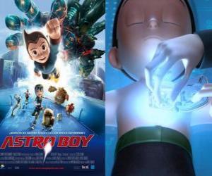 Puzzle de AstroBoy o Astro Boy, un robot superpoderoso que el Profesor Tenma crea a imagen de su hijo muerto Toby y con sus recuerdos