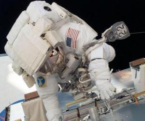 Puzzle de Astronauta en el espacio