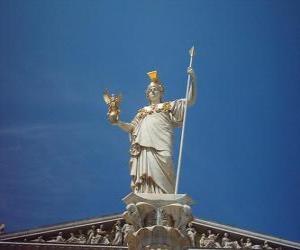 Puzzle de Atenea o Atena, en la mitología griega diosa de la sabiduría, la estrategia y la guerra justa