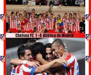 Puzzle de Atlético de Madrid Campeón Supercopa de la UEFA 2012
