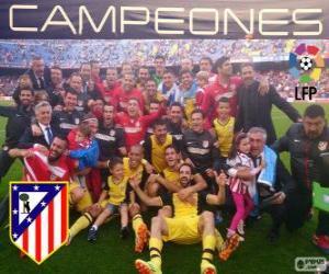 Puzzle de Atlético de Madrid, campeón de la liga española de fútbol 2013-2014