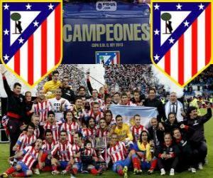 Puzzle de Atlético Madrid campeón Copa del Rey 2012-2013