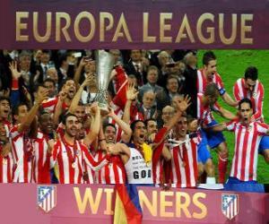 Puzzle de Atlético Madrid, campeón de la UEFA Europa League 2011-2012