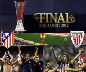 Puzzle de Atlético Madrid vs Athletic Bilbao. Final de Europa League 2011-2012 en el Estadio Nacional de Bucarest, Rumania
