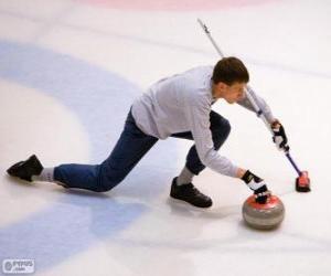 Puzzle de Atleta practicando el curling