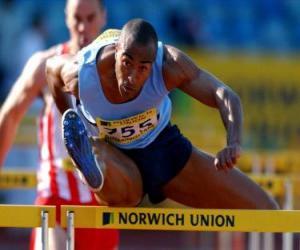 Puzzle de Atleta saltando una valla