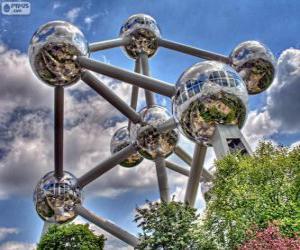Puzzle de Atomium, Bruselas, Bégica