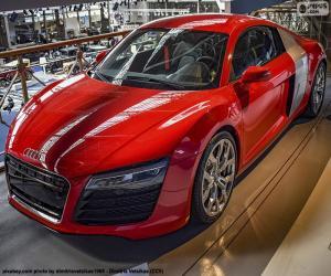 Puzzle de Audi R8 Rojo