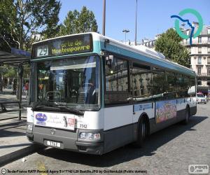 Puzzle de Autobús urbano de Paris