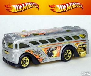 Puzzle de Autobús de Hot Wheels