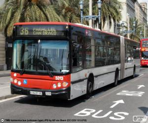 Puzzle de Autobús urbano de Barcelona