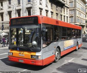 Puzzle de Autobús urbano de Roma