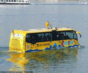 Puzzle de Autobus anfibio