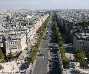 Puzzle de Avenida de los Campos Elíseos, Paris