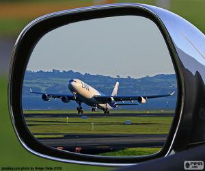 Puzzle de Avión despegando