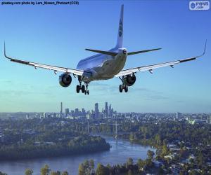 Puzzle de Avión llegando a su destino