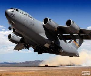 Puzzle de Avión militar Boeing C 17 Globemaster III