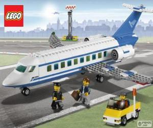 Puzzle de Avión de pasajeros de Lego