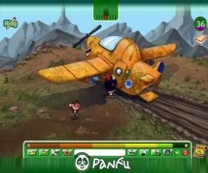 Puzzle de Avión estrellado de Panfu