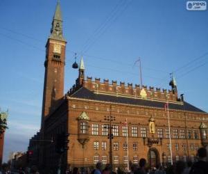 Puzzle de Ayuntamiento de Copenhague, Dinamarca