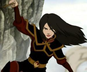 Puzzle de Azula es la Princesa de la Nación del Fuego y hermana menor de Zuko