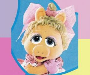 Puzzle de Baby Piggy, el muppet bebé de Miss Piggy