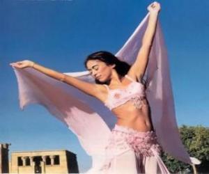 Puzzle de Bailarina profesional bailando durante una actuación