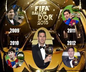 Puzzle de Balón de Oro FIFA 2015