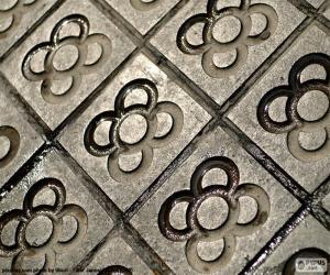 Puzzle de Baldosa, Flor de Barcelona