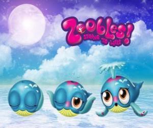 Puzzle de Ballena, Zoobles de Seagonia