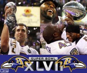 Puzzle de Baltimore Ravens Campeones Super Bowl 2013