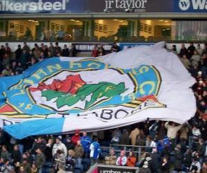 Puzzle de Bandera Blackburn Rovers FC