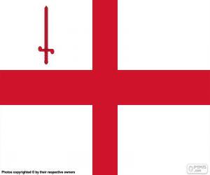 Puzzle de Bandera ciudad de Londres