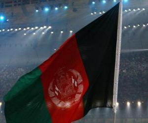 Puzzle de Bandera de Afganistán