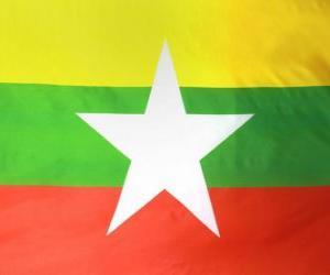 Puzzle de Bandera de Birmania